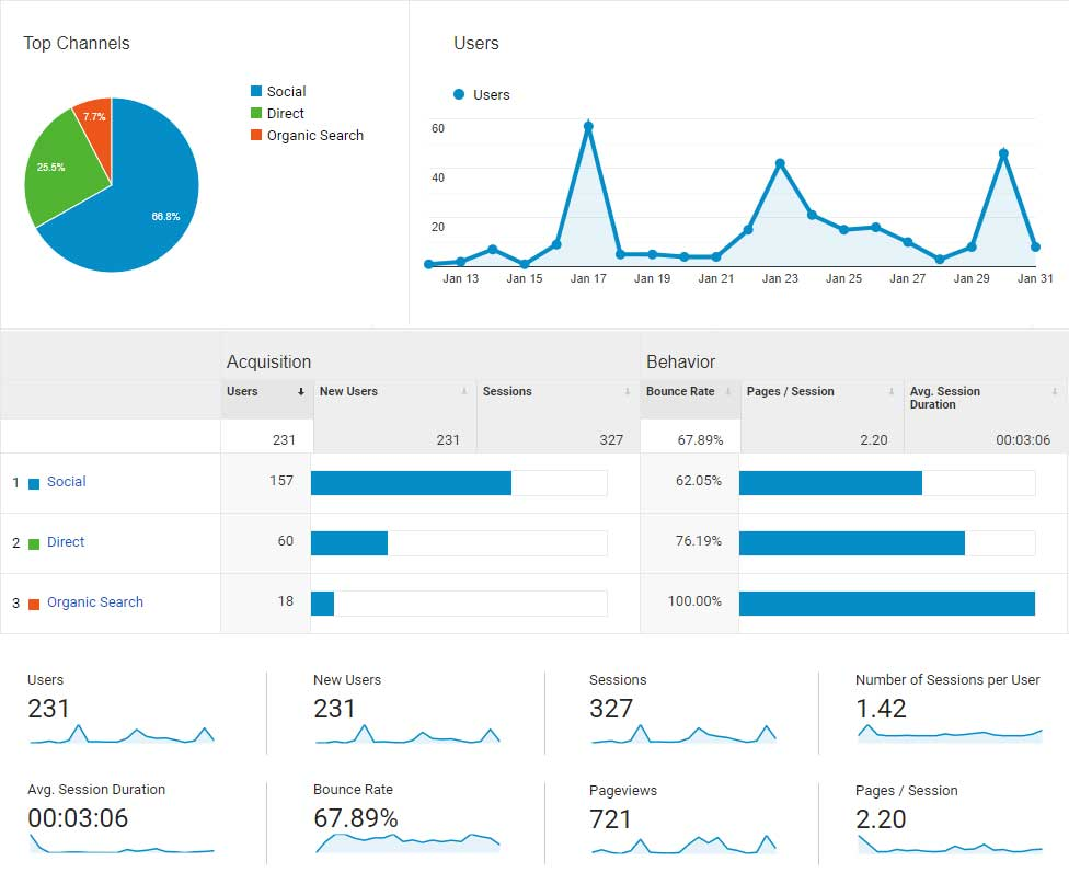 Monthly Usage Report for January 2019