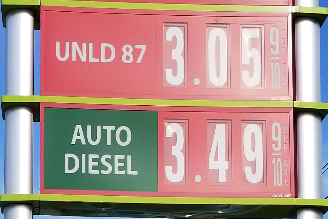 Gas Price at Sheets 4-27-2019