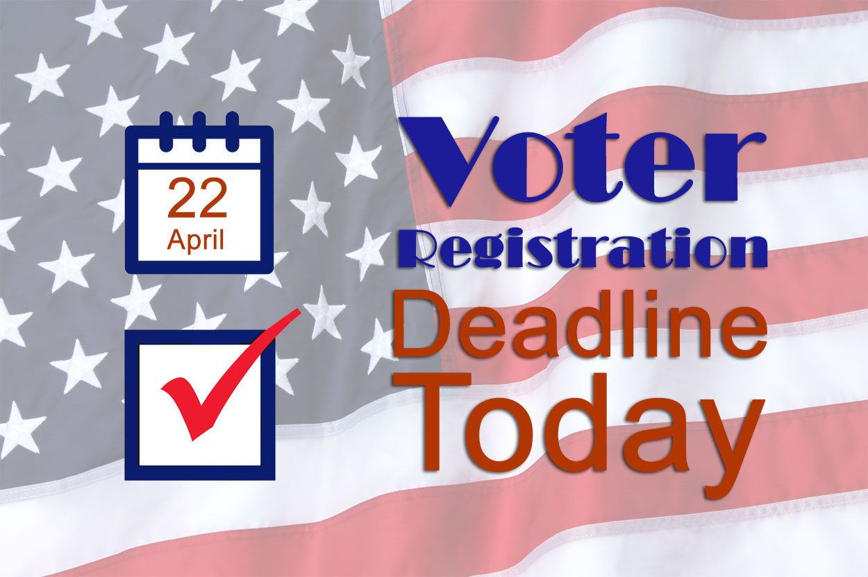 Today Is Last Day to Register to Vote Before Primary