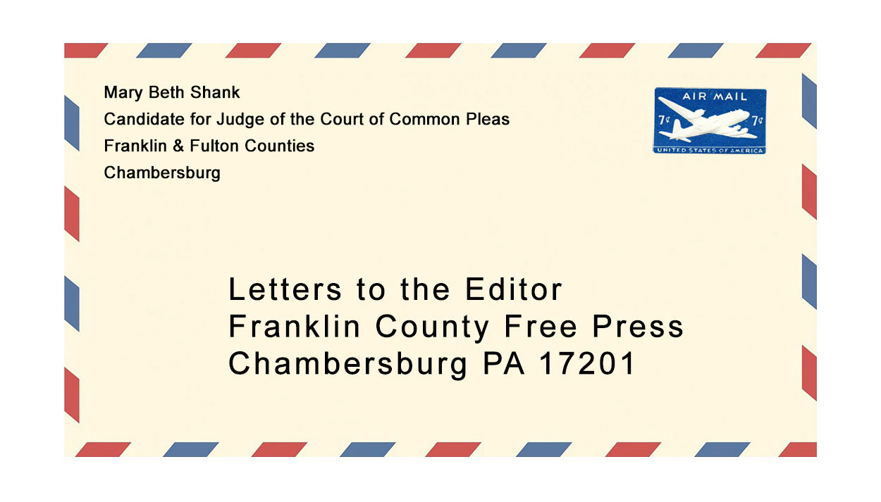 Letter to the Editor from Mary Beth Shank