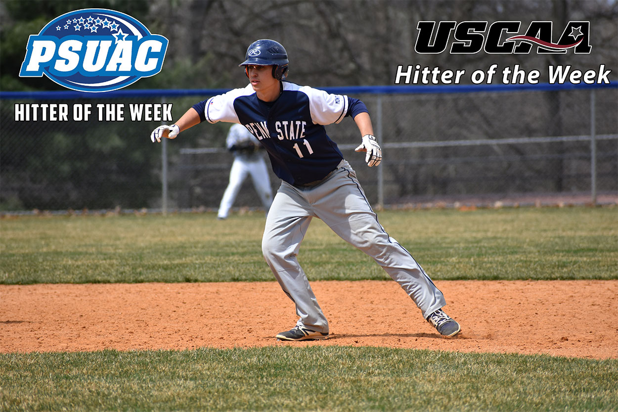 USCAA and PSUAC Name Brady Topper Hitter of the Week