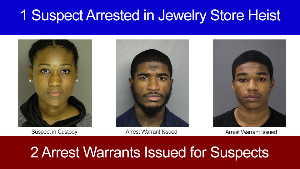 Shippensburg Woman Arrested in Jewelry Store Heist