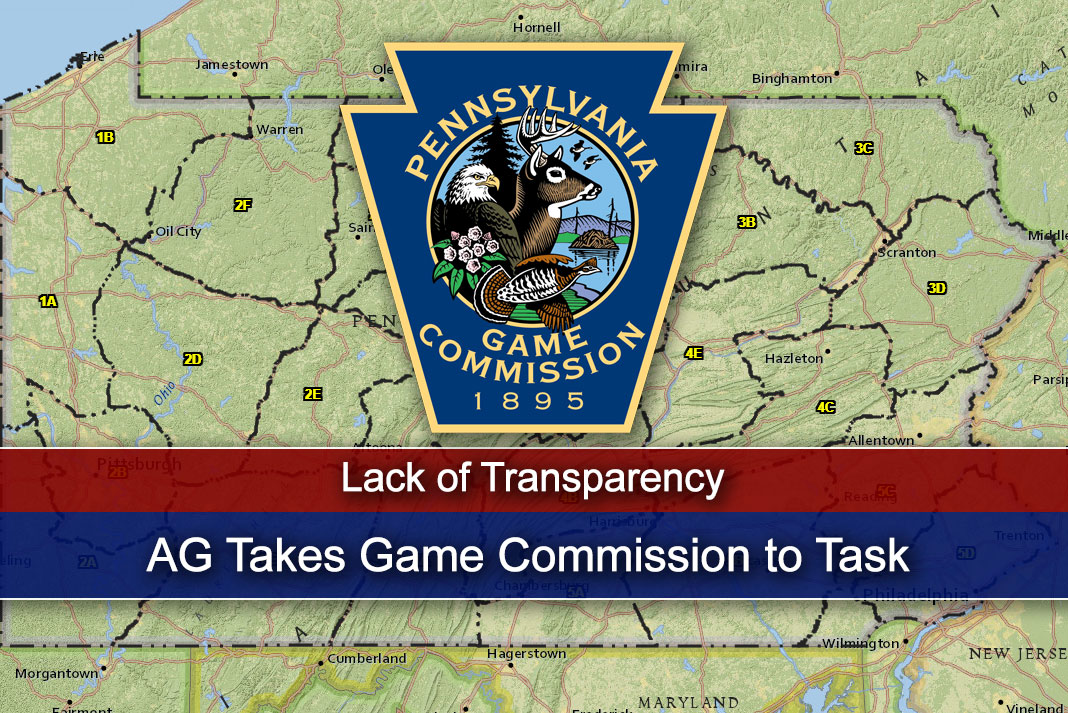 AG Takes Game Commission to Task for Lack of Transparency