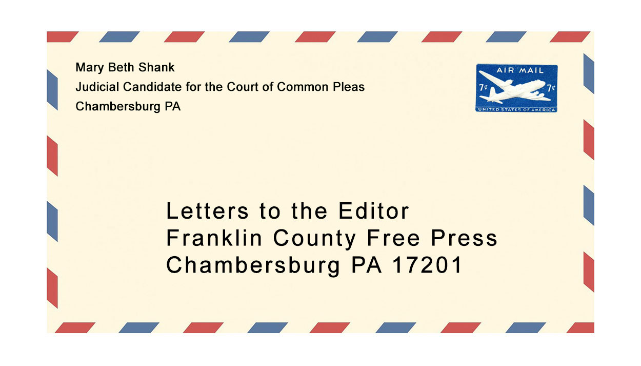 Mary Beth Shank Judicial Candidate for the Court of Common Pleas Chambersburg PA