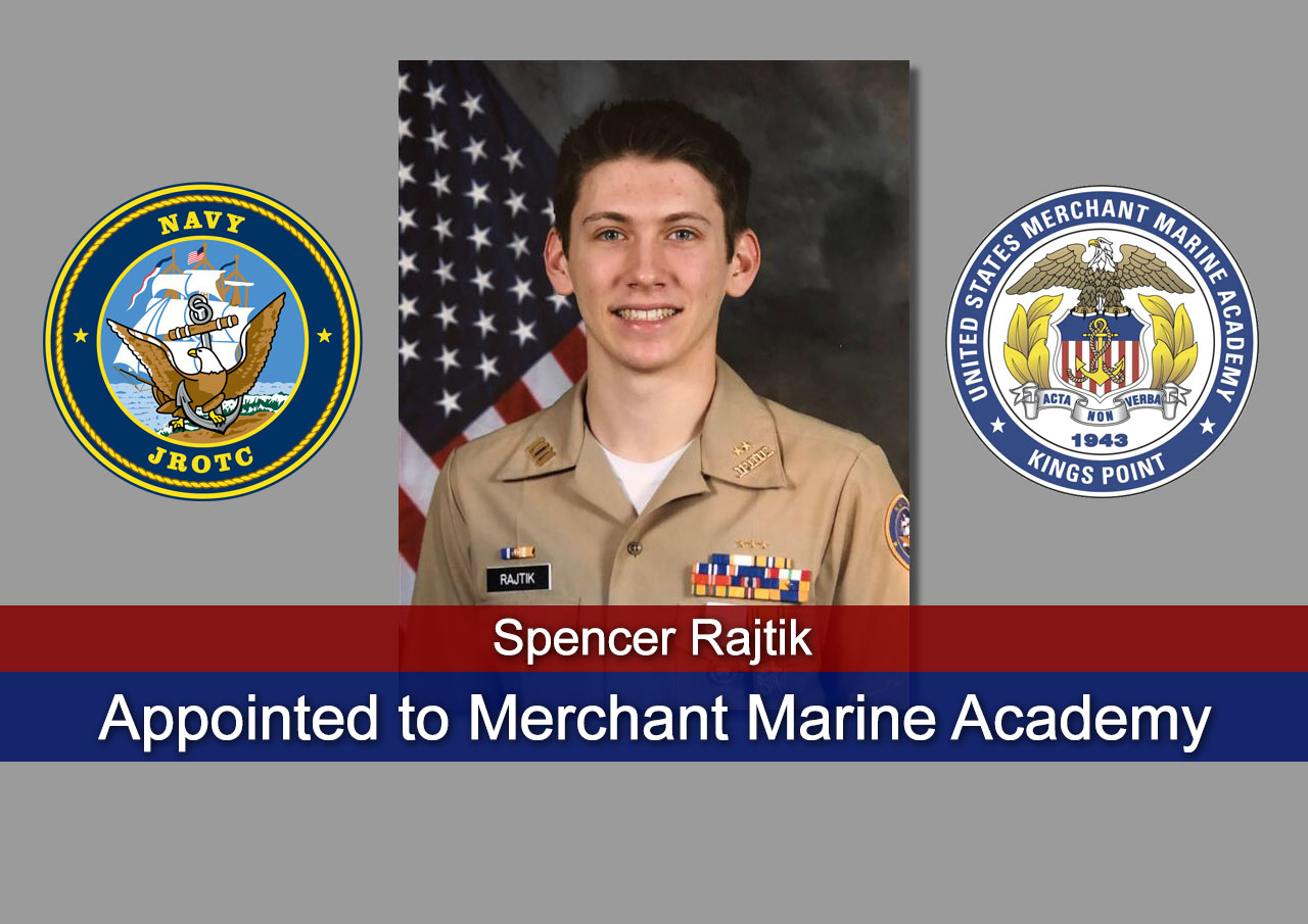 SCASHS JROTC Cadet Appointed to Merchant Marine Academy