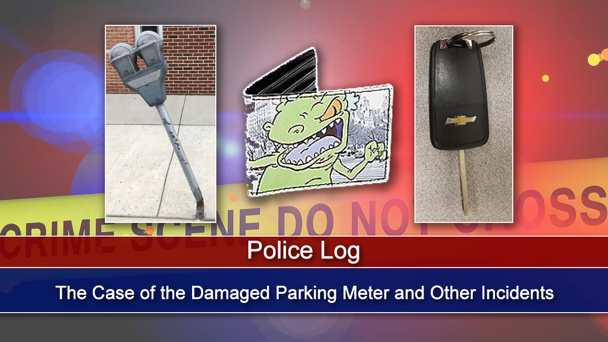 Police Log: The Case of the Damaged Parking Meter and Other Incidents