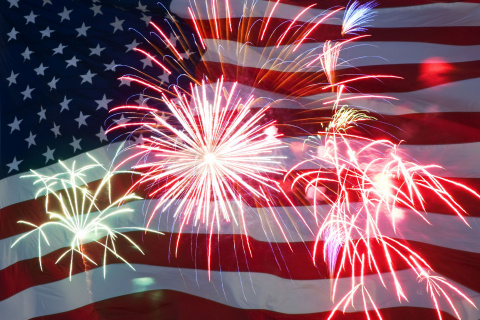 Fireworks and parties celebrate America
