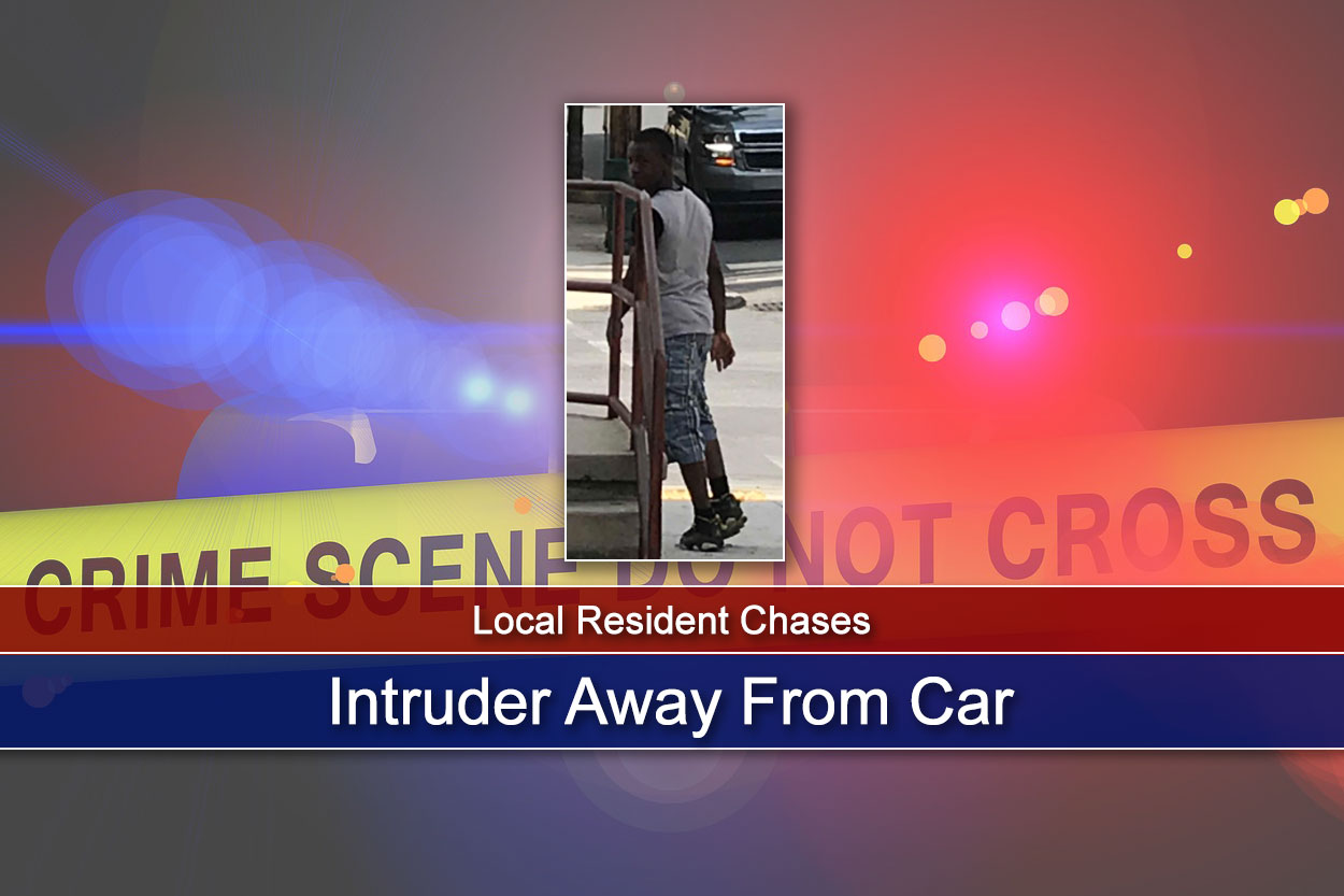 Local Resident Chases Intruder Away From Car