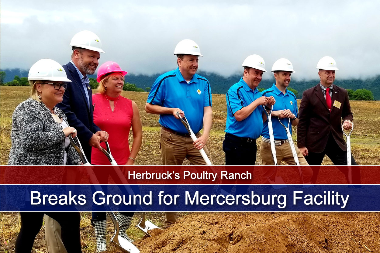 Herbruck's Poultry Ranch Breaks Ground for Mercersburg Facility