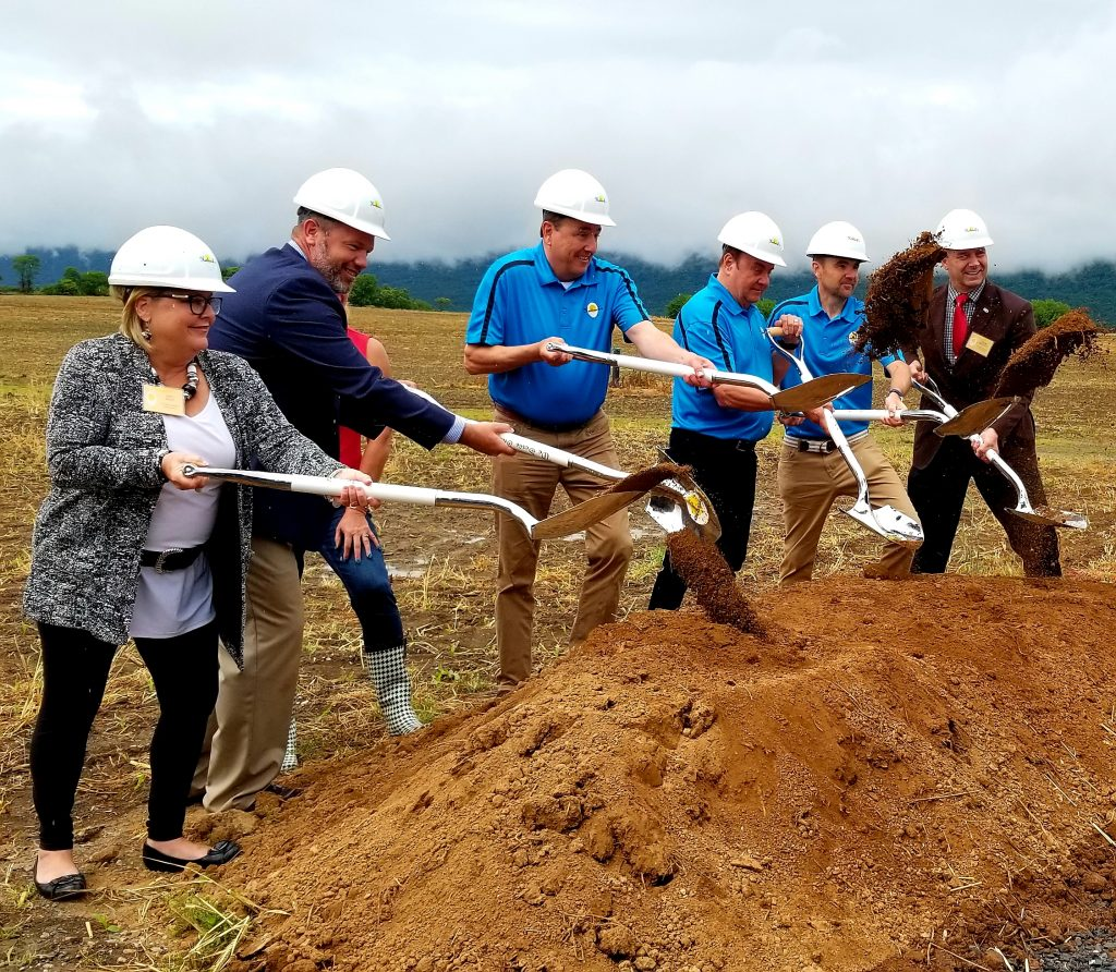 Breaking ground for a new $100 million cage-free egg laying facility in Franklin County. (Photo by Vicky Taylor)