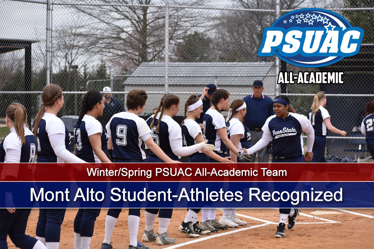 34 Mont Alto Student-Athletes Recognized on the Winter/Spring PSUAC All-Academic Team