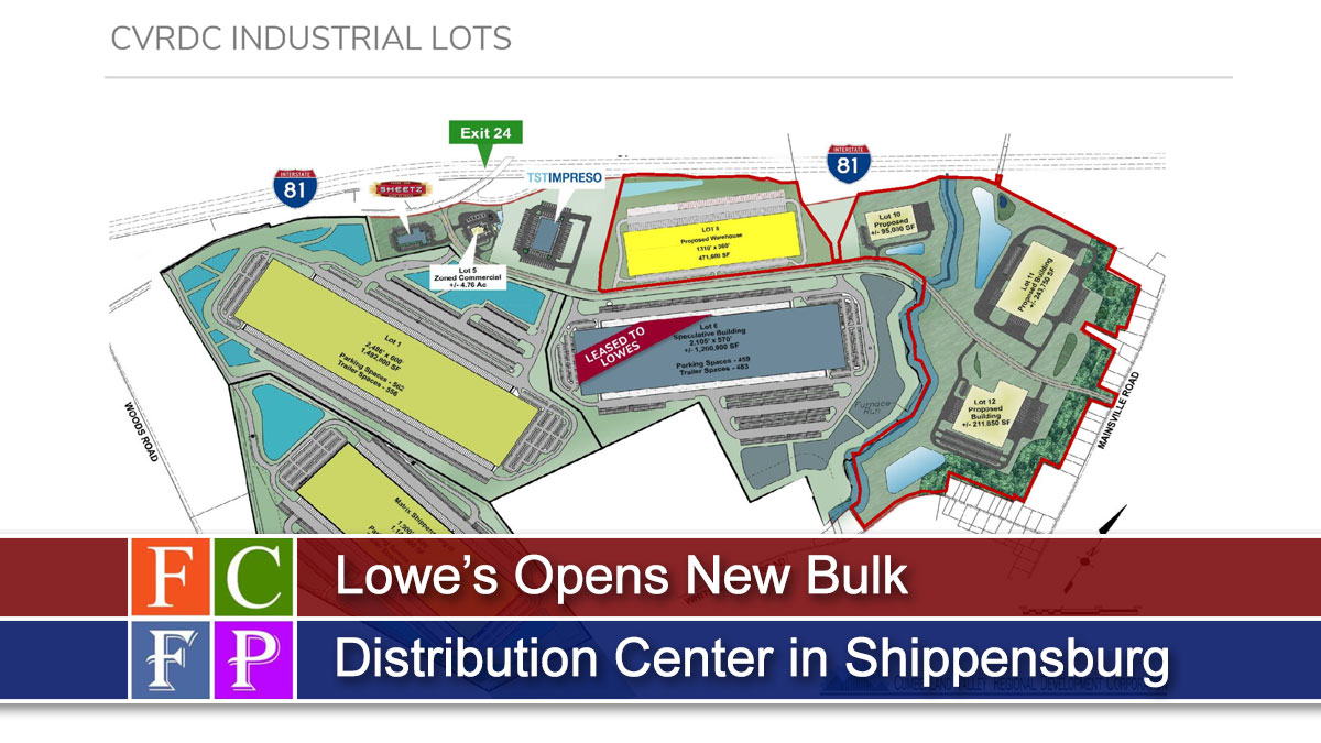 Lowe's Opens New Bulk Distribution Center in Shippensburg