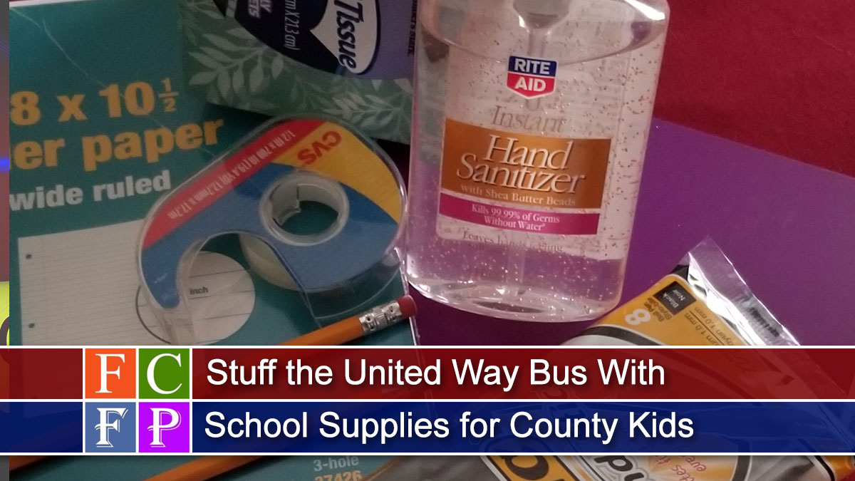 Stuff the United Way Bus With School Supplies for County Kids