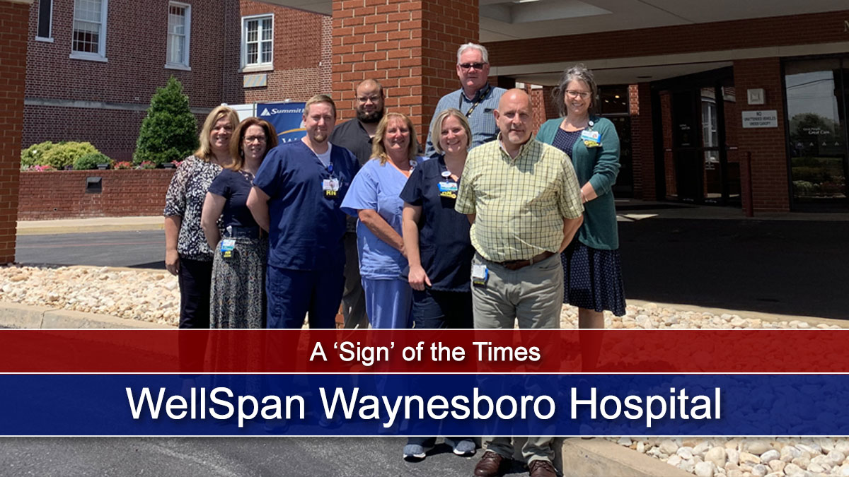 New signs, same level of hospital care