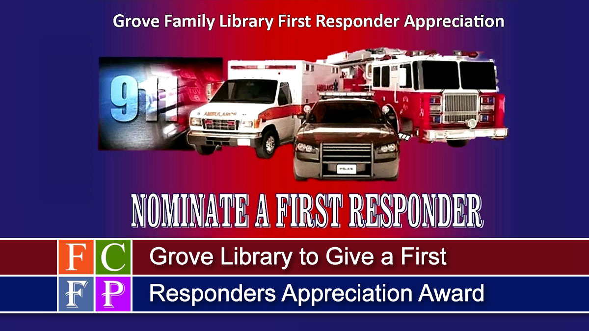 Grove Library to Give a First Responders Appreciation Award
