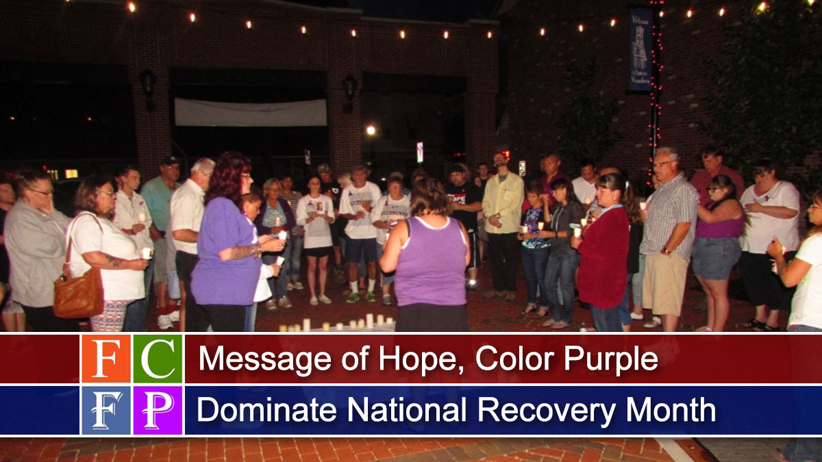 Message of Hope, Color Purple Dominate National Recovery Month