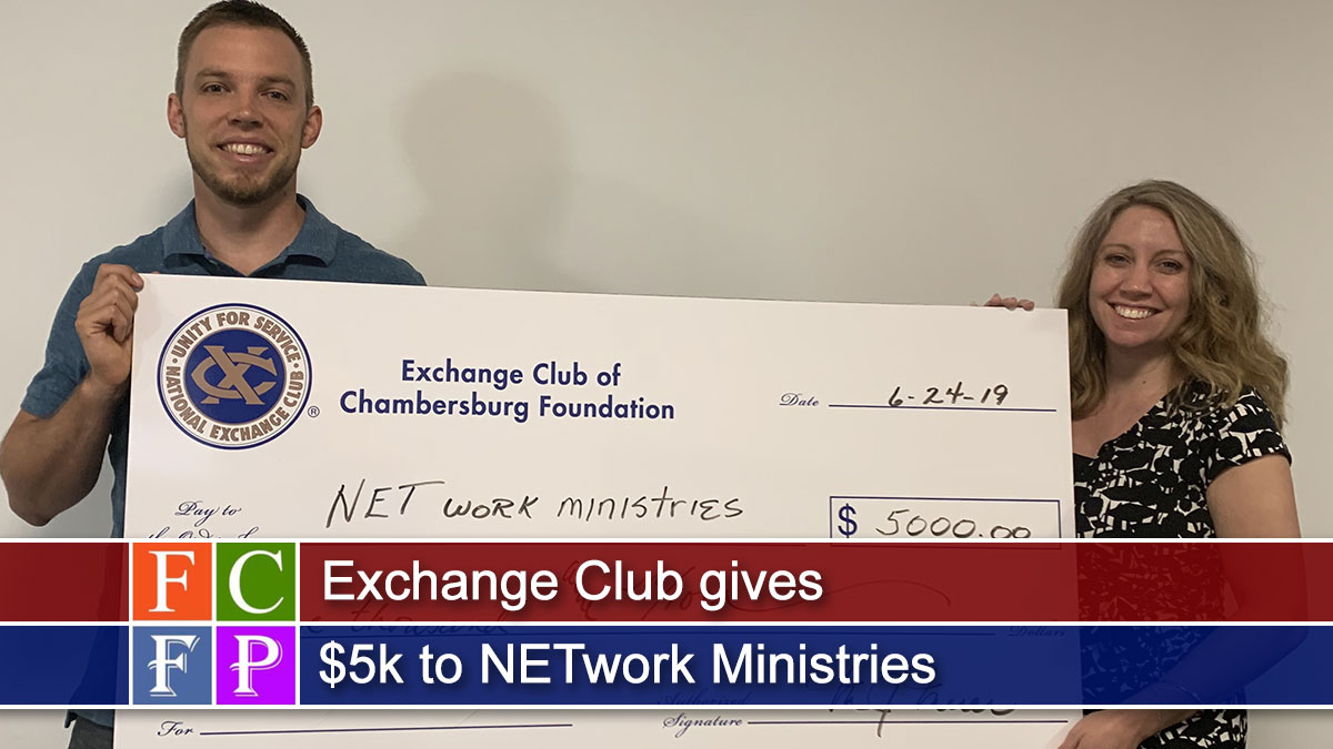 Exchange Club gives $5k to NETwork Ministries