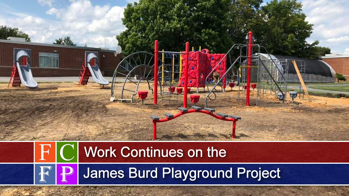 Building a Playground is Community Project at James Burd Elementary School