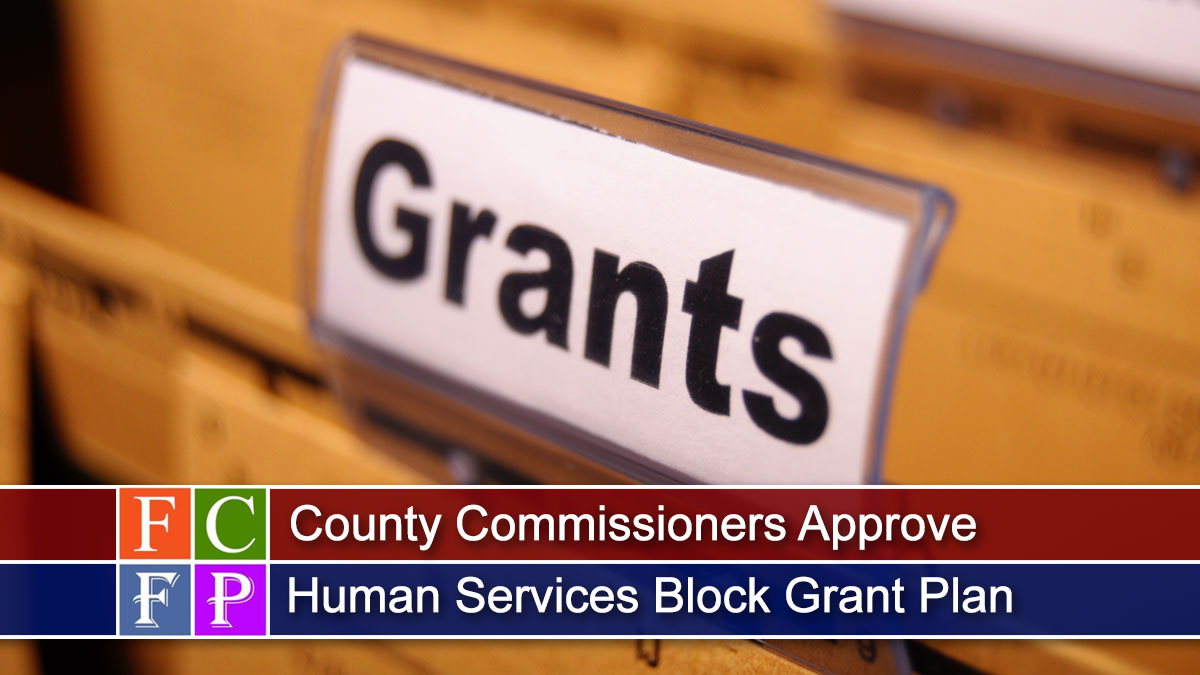County Commissioners Approve Human Services Block Grant Plan