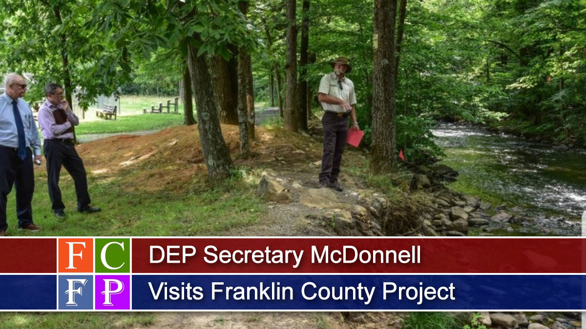 DEP Secretary McDonnell Visits Franklin County Project