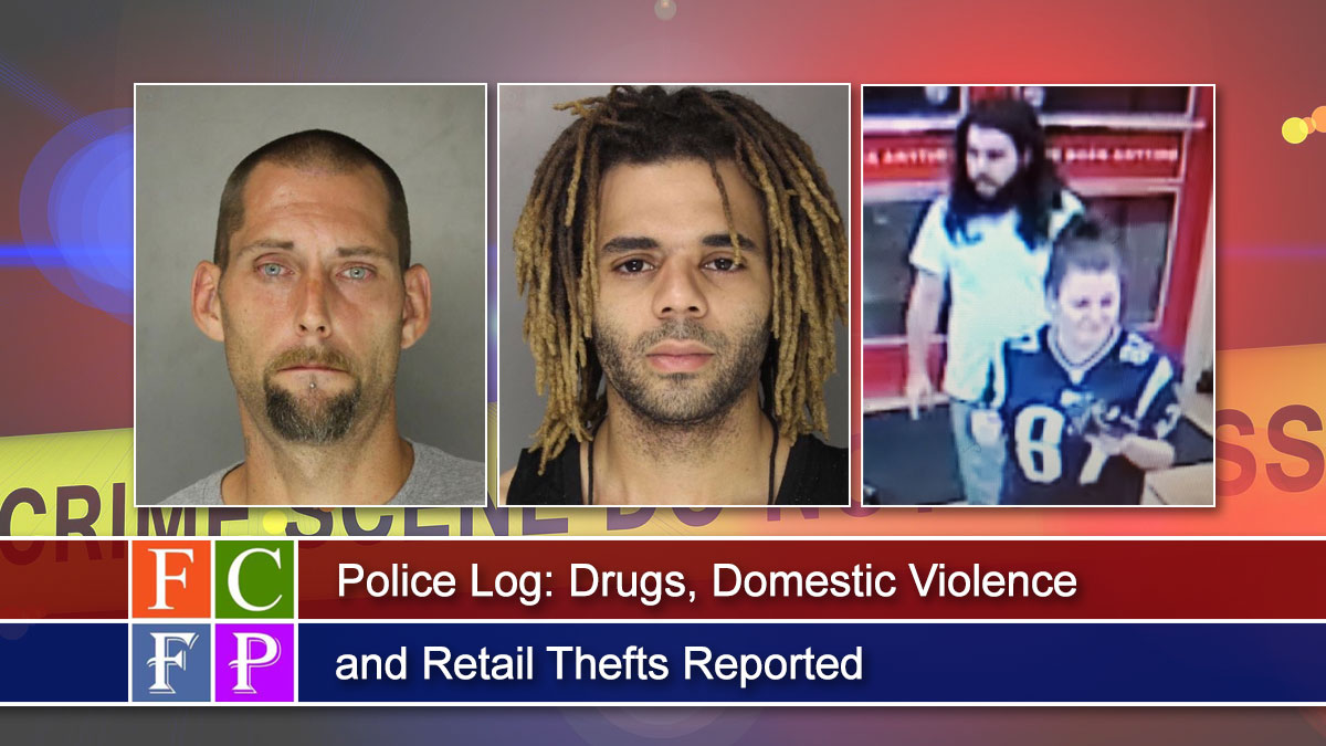 Police Log: Drugs, Domestic Violence, Retail Thefts Reported
