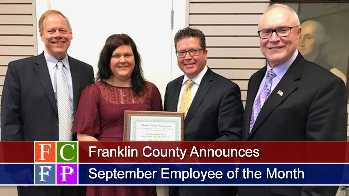 Franklin County Announces September Employee of the Month