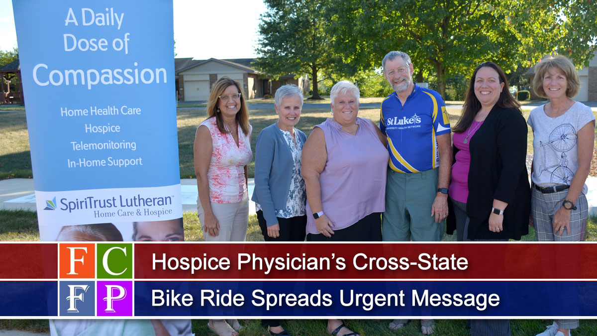 Hospice Physician's Cross-State Bike Ride Spreads Urgent Message