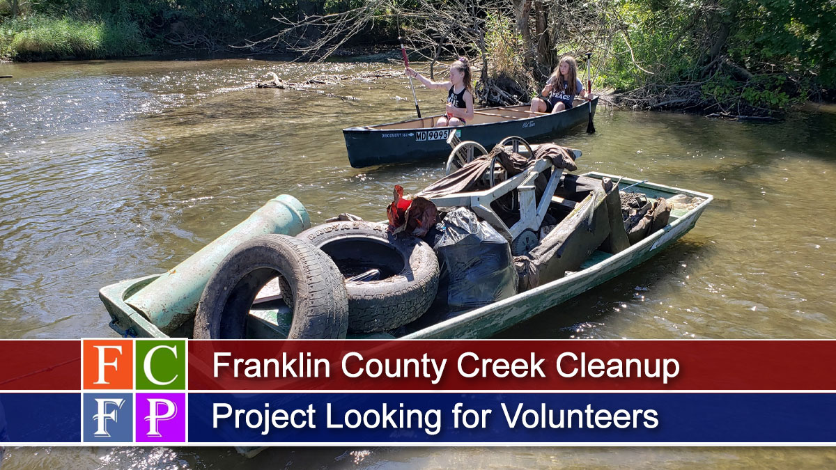 Franklin County Creek Cleanup Project Looking for Volunteers