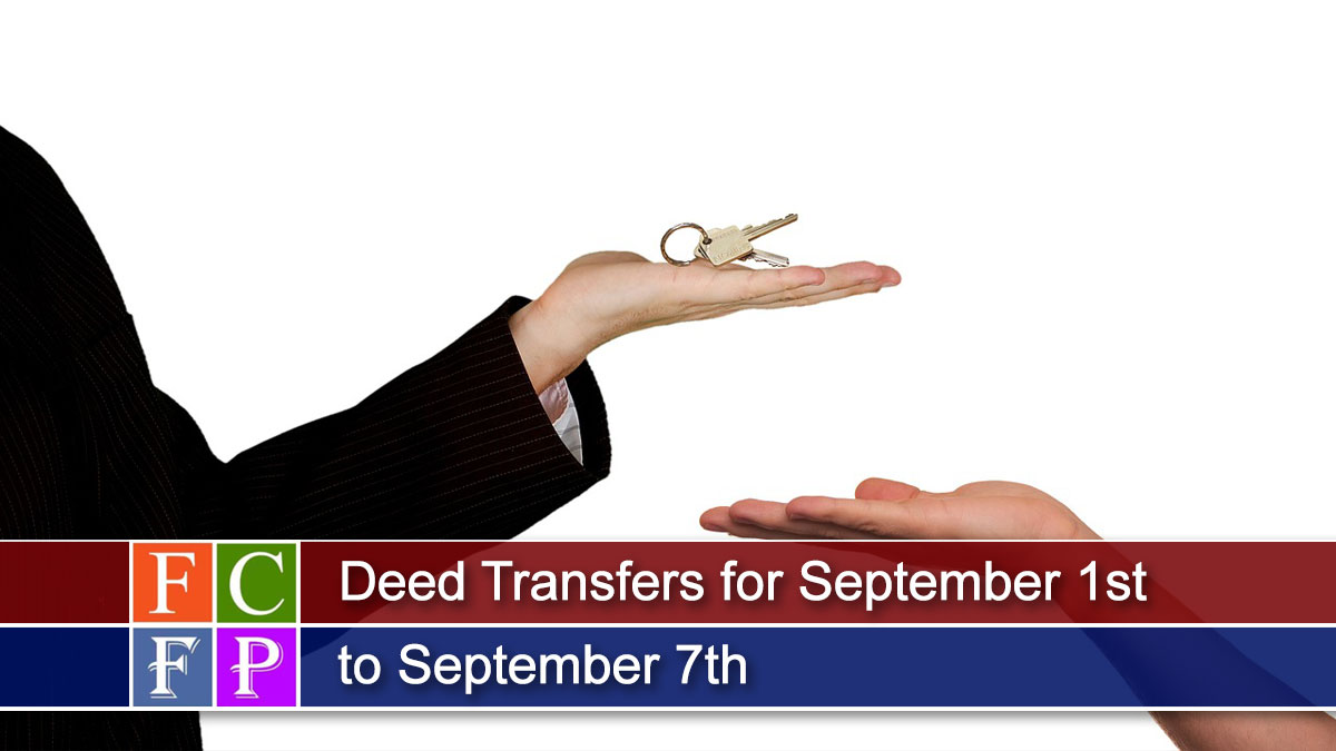 Deed Transfers for September 1st to September 7th