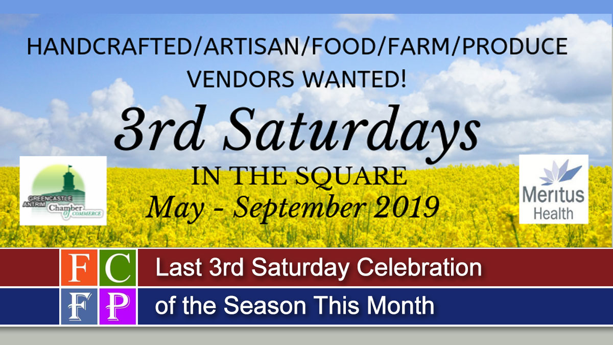 Last 3rd Saturday Celebration of the Season This Month