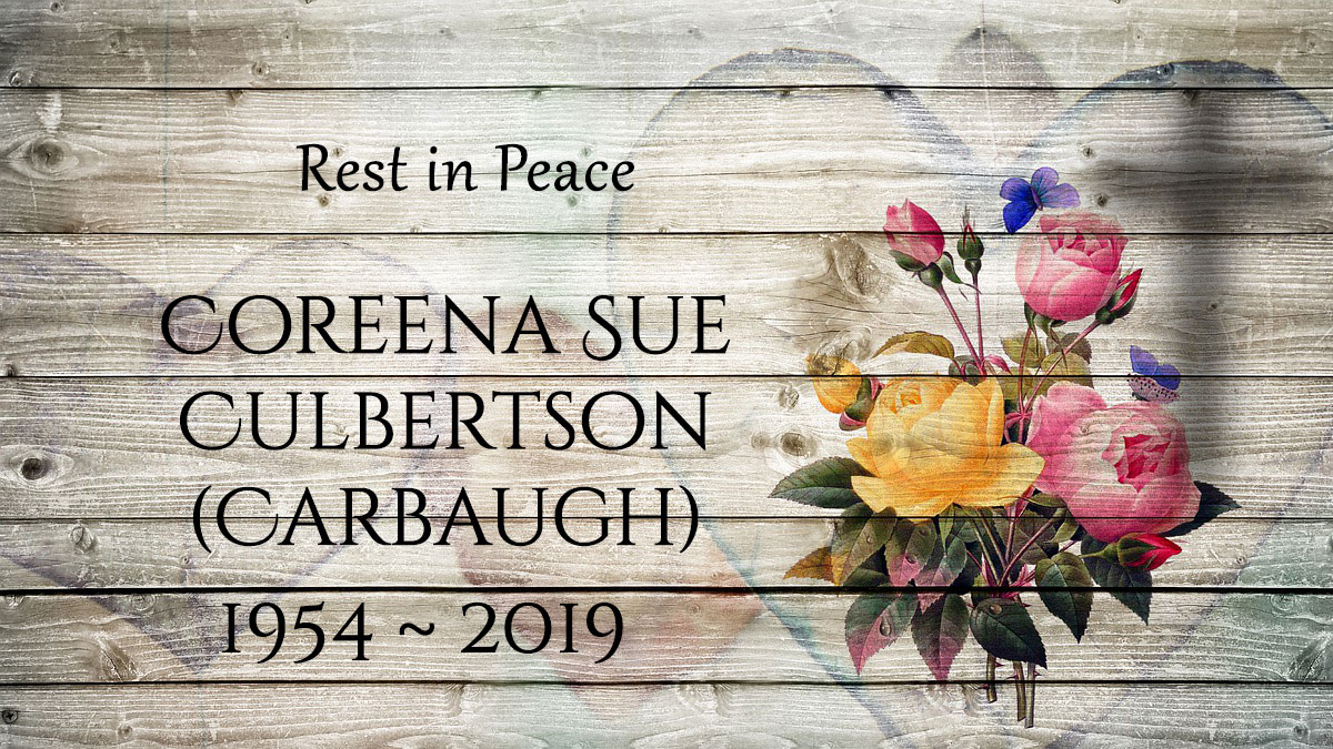 Coreena Sue Culbertson (Carbaugh)