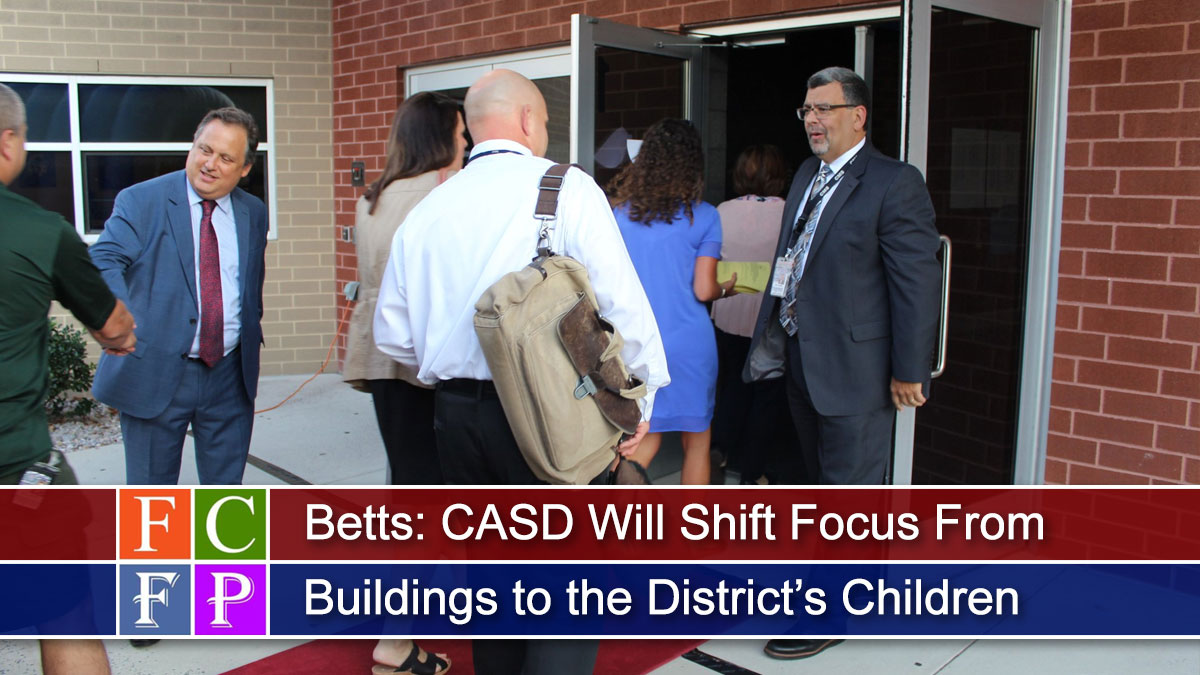 Betts: CASD Will Shift Focus From Buildings to the District's Children