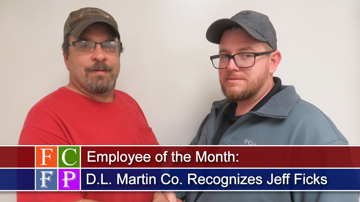D.L. Martin Co. Recognizes Jeff Ficks as Employee of the Month