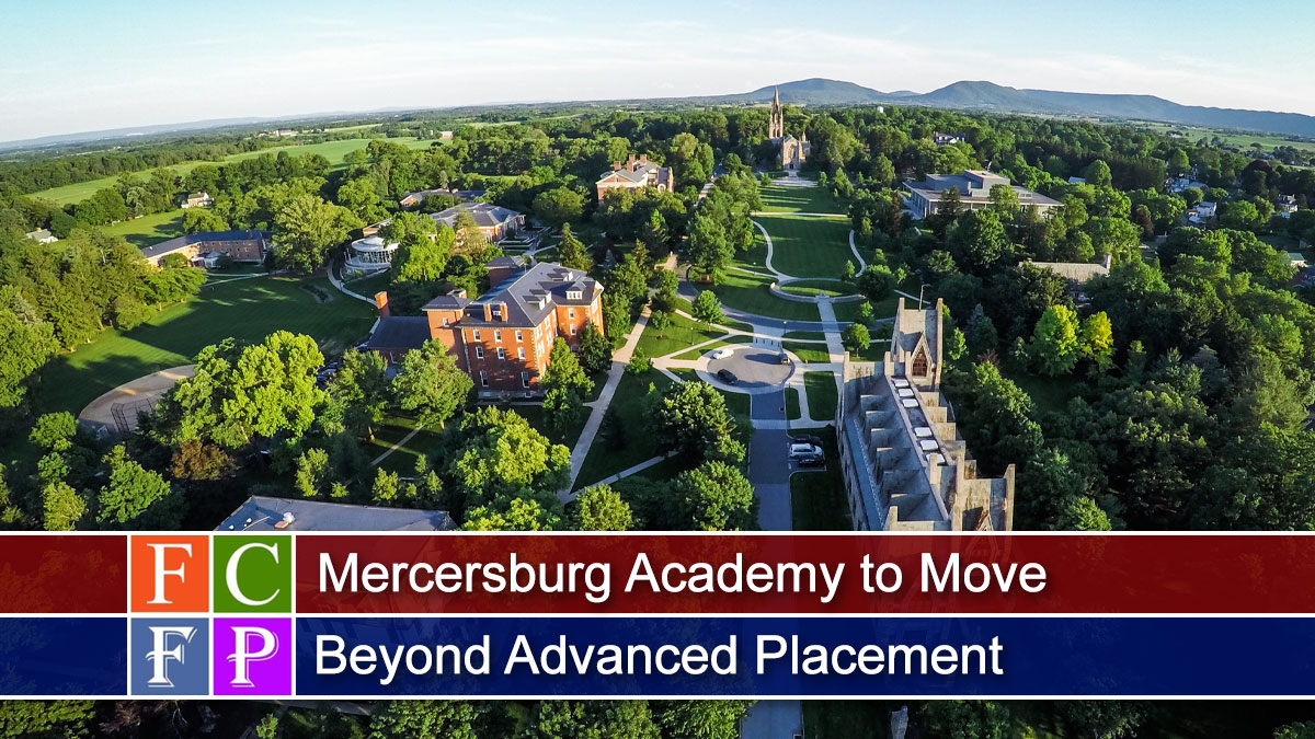 Mercersburg Academy to Move Beyond Advanced Placement