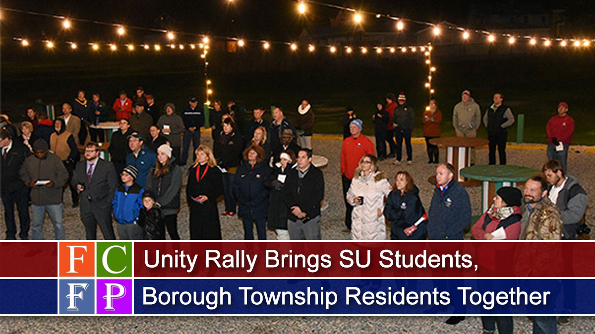 Unity Rally Brings SU Students, Borough Township Residents Together