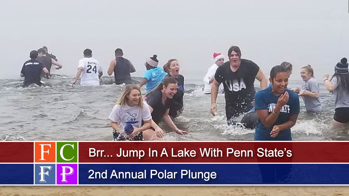 Brr... Jump In A Lake With Penn State's 2nd Annual Polar Plunge