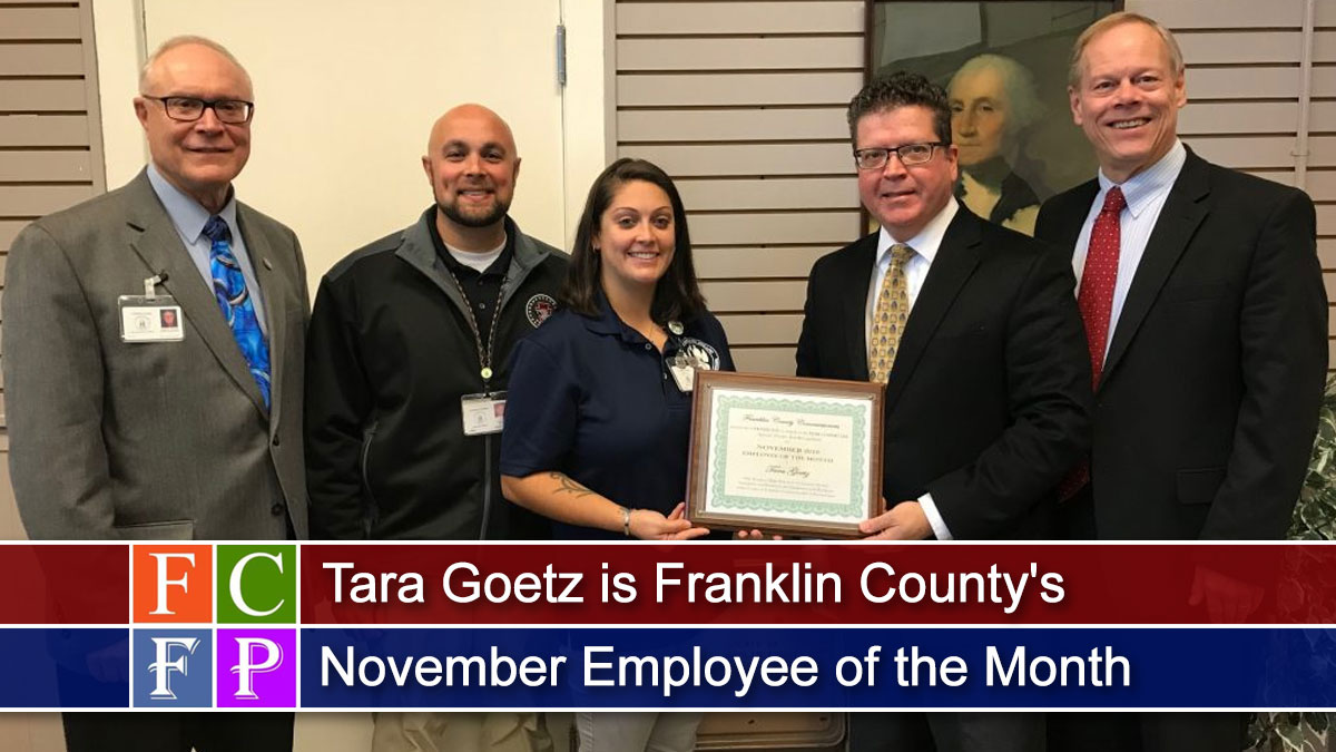 Tara Goetz is Franklin County's November Employee of the Month