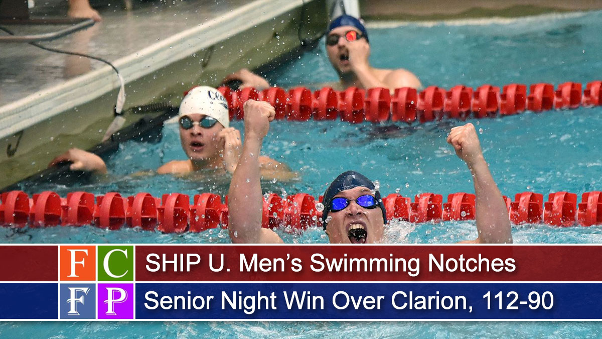 SHIP U. Men's Swimming Notches Senior Night Win Over Clarion, 112-90
