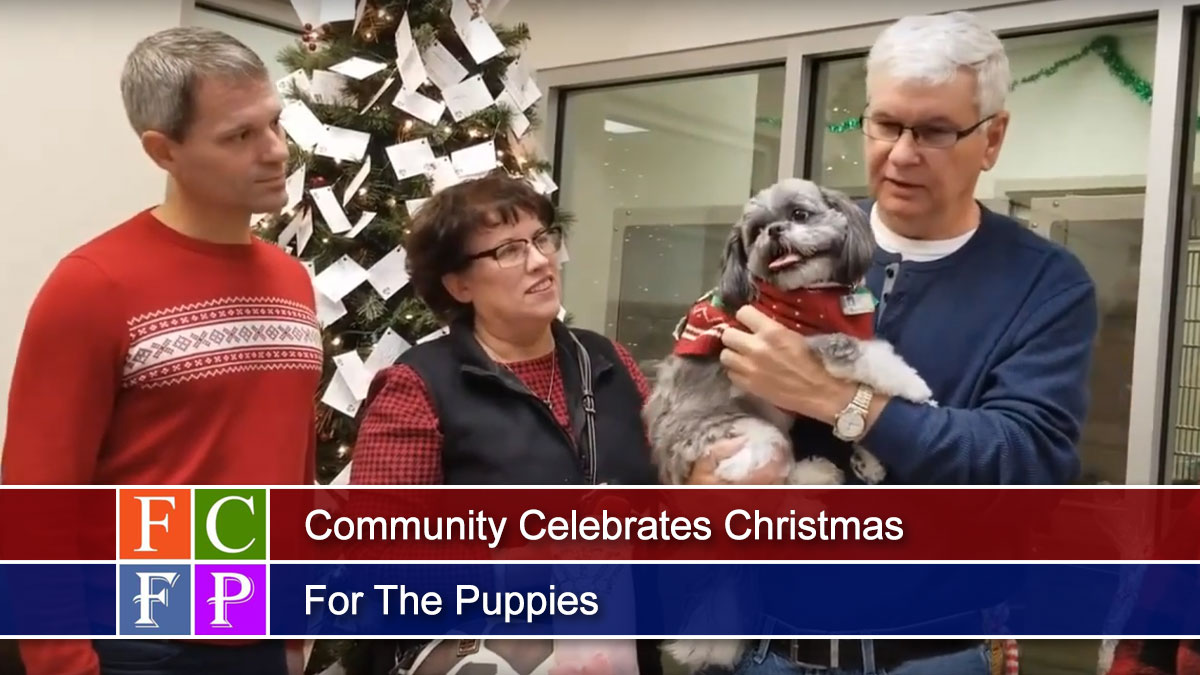 Community Celebrates Christmas For The Puppies