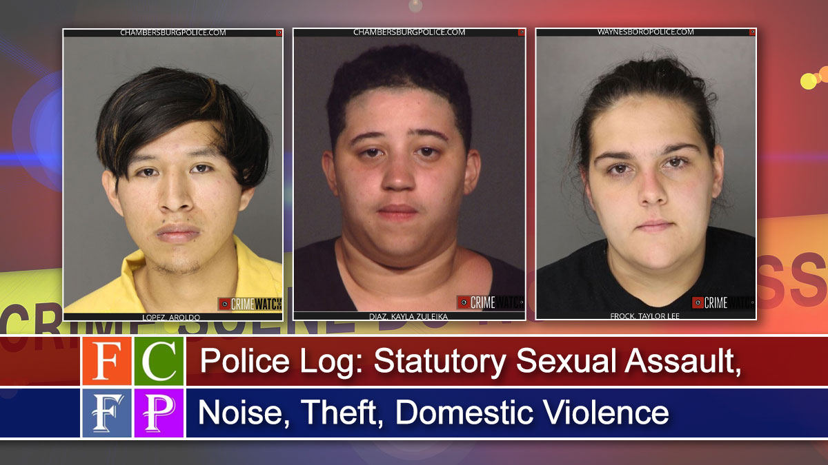 Police Log: Statutory Sexual Assault, Noise, Theft, Domestic Violence