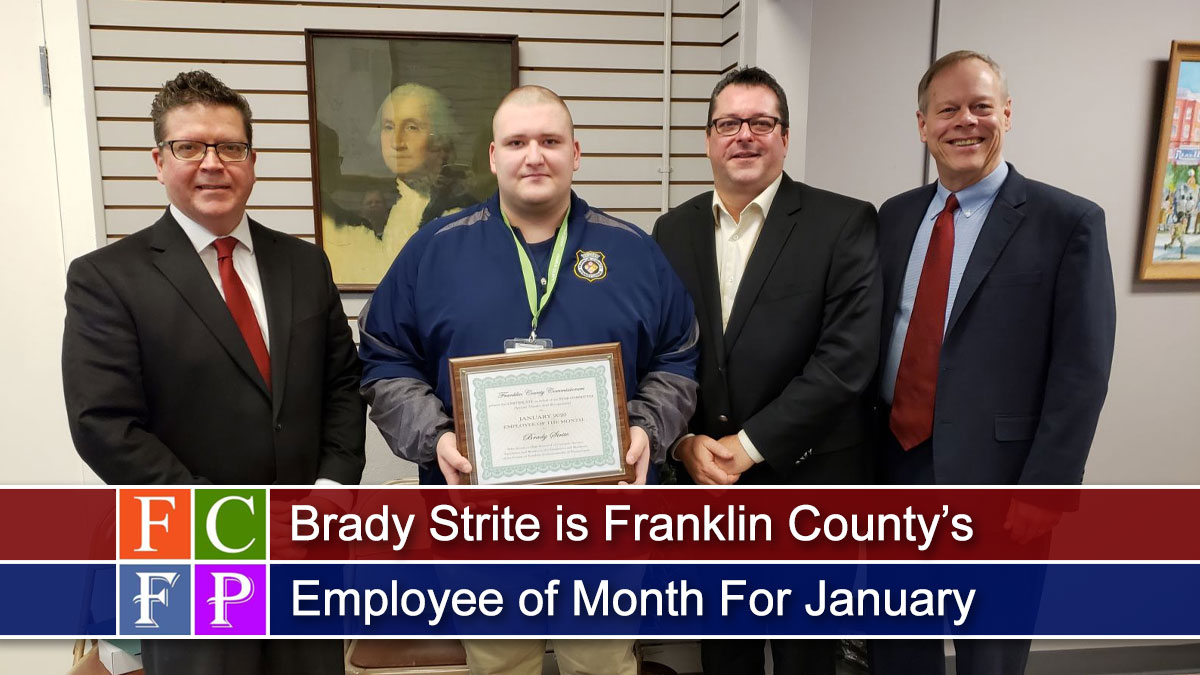 Brady Strite is Franklin County's Employee of Month For January