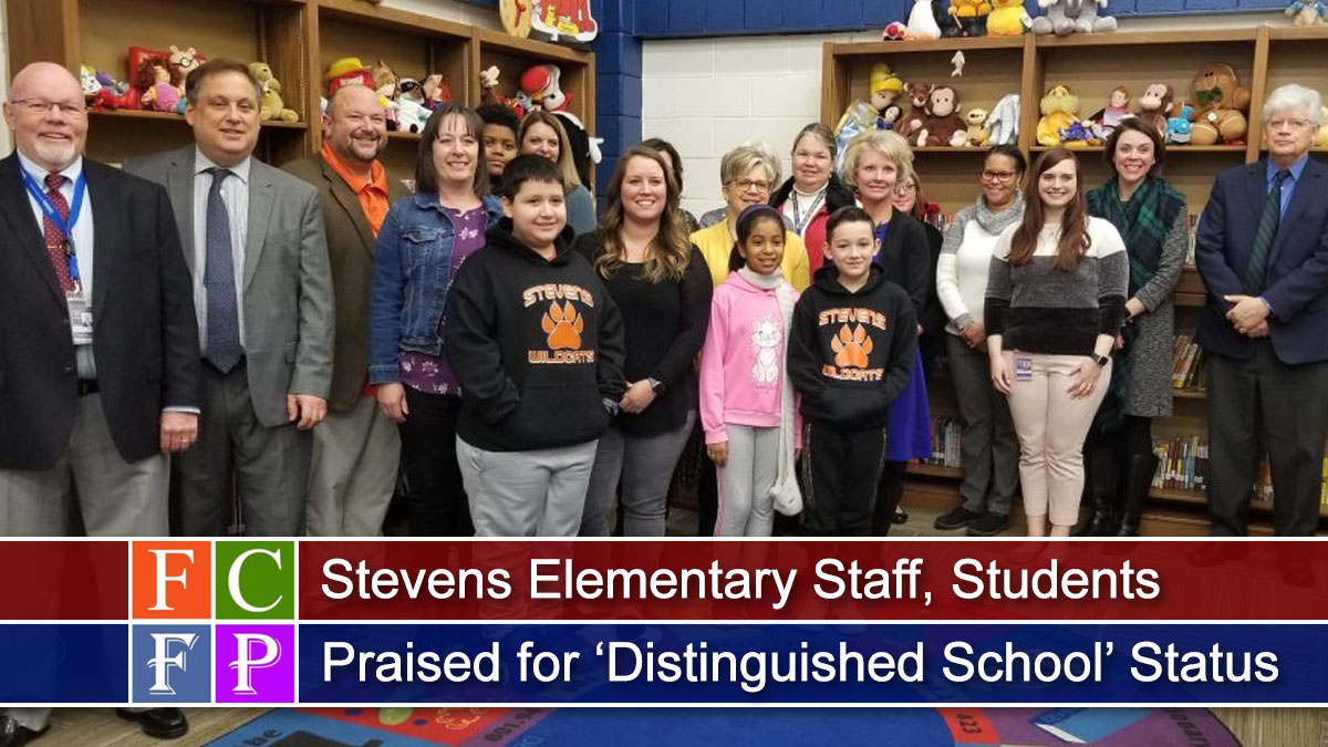 Stevens Elementary Staff, Students Praised for 'Distinguished School' Status