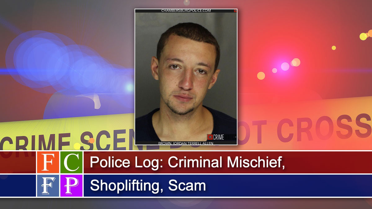 Police Log: Criminal Mischief, Shoplifting, Scam