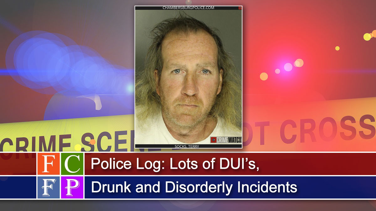 Police Log: Lots of DUI's, Drunk and Disorderly Incidents