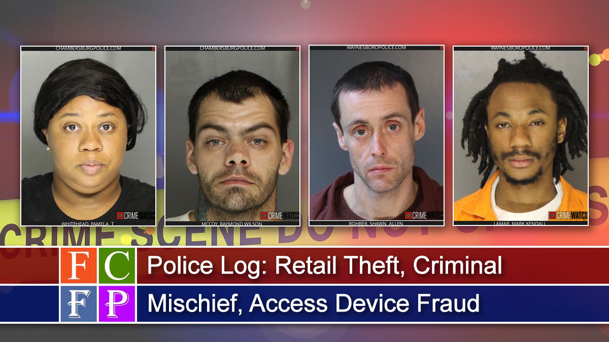 Police Log: Retail Theft, Criminal Mischief, Access Device Fraud