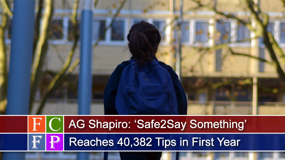 AG Shapiro: 'Safe2Say Something' Reaches 40,382 Tips in First Year