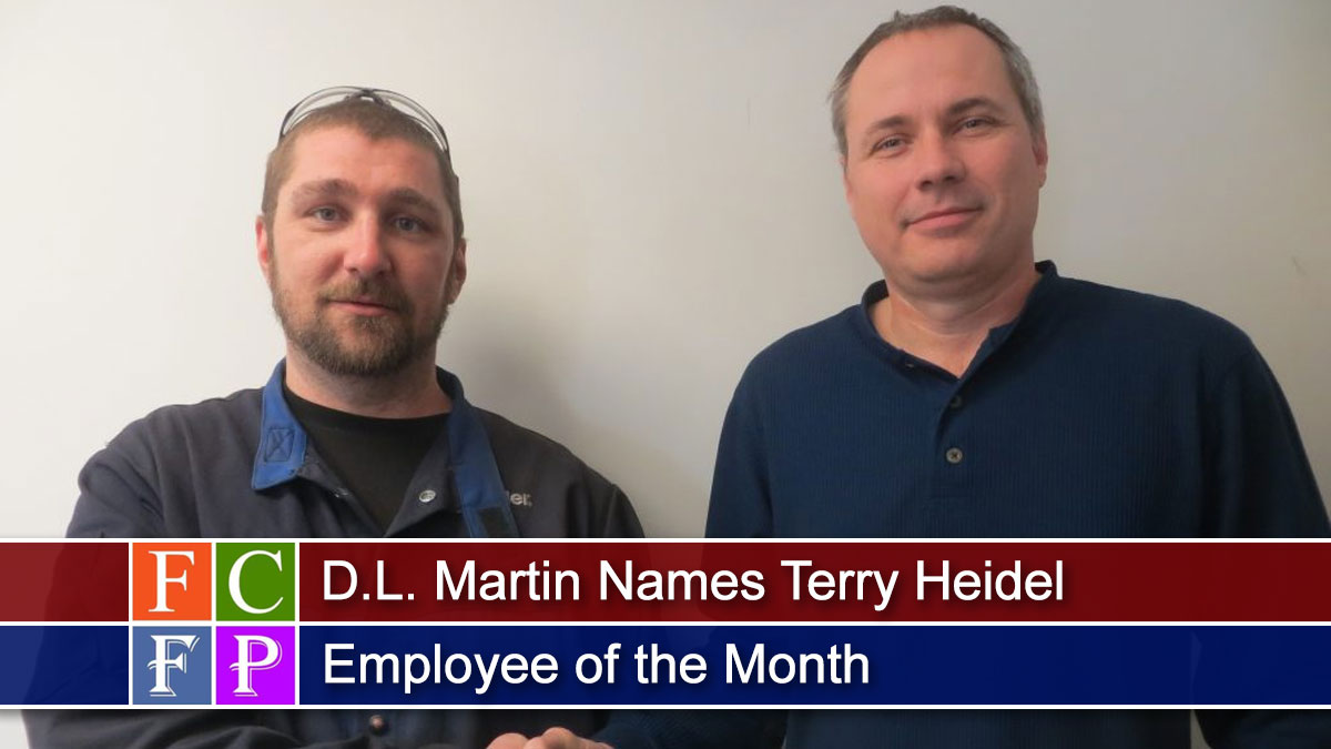 D.L. Martin Names Terry Heidel Employee of the Month