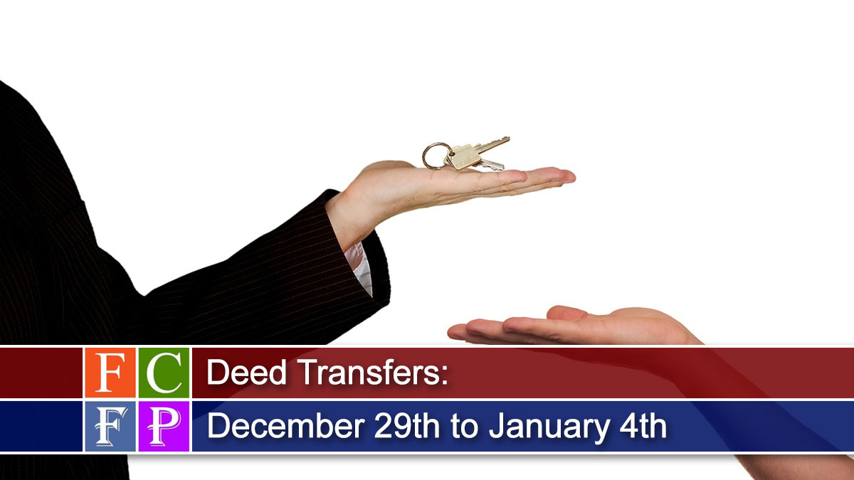 Deed Transfers for December 29th to January 4th