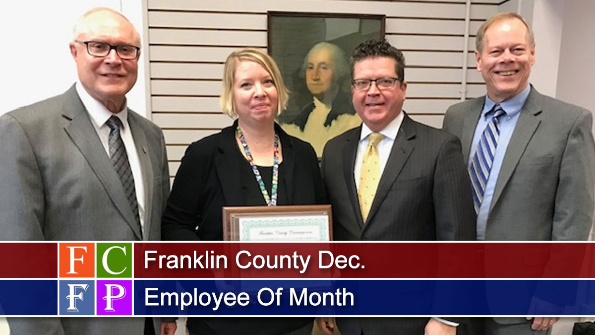 Franklin County Dec. Employee Of Month