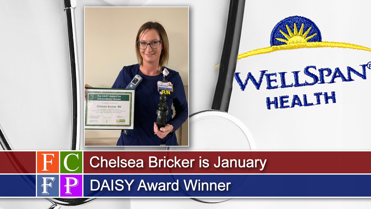 Chelsea Bricker is January DAISY Award Winner